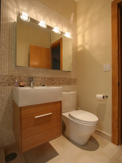 Small bathrooms 3 4 bath design ideas pictures remodel for Small 3 piece bathroom ideas