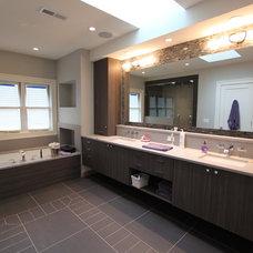 Modern Bathroom by Lisa Wolfe Design, Ltd