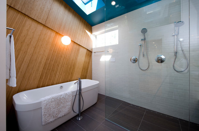 contemporary bathroom by E/L STUDIO