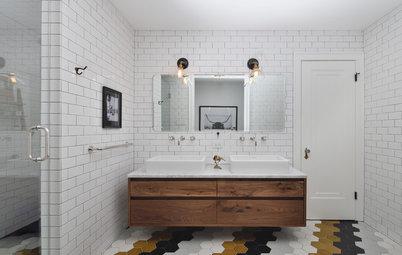 14 badeværelser med vovede og vildt inspirerende fliser