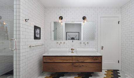 Kakel som sätter spår: 14 mönstrade badrumsgolv som vi älskar