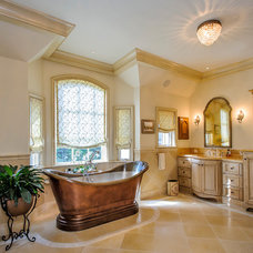 Mediterranean Bathroom by Dennis Mayer, Photographer