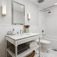 Transitional Bathroom by Robert Frank Design