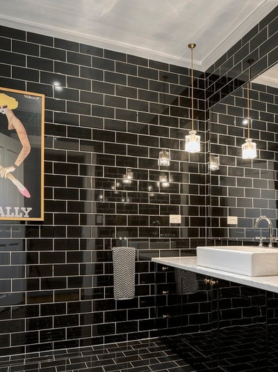 Traditional Bathroom by Michael Bell Architects Pty Ltd