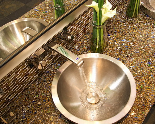 Recycled Glass Countertops Cost Ideas Pictures Remodel And Decor