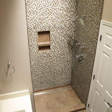 Linear channel drain shower
