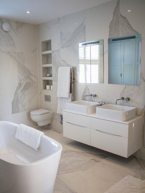 75 Medium Sized Contemporary Bathroom Design Ideas ...