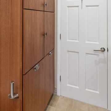 Linen Storage and pullout hampers