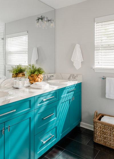 Transitional Bathroom by MMI Design