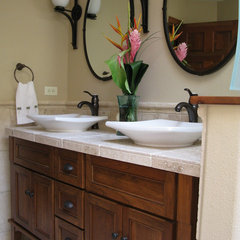 tropical bathroom by LisaLeo designs