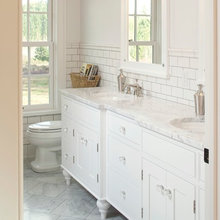 marble BR counter and flooring