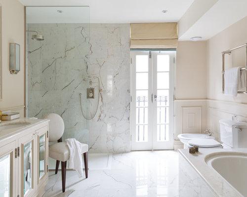 Bath Marble white marble bath | houzz