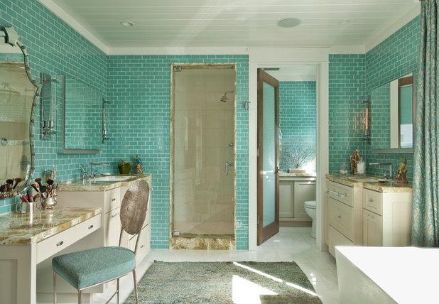 Beach Style Bathroom by Anne Michaelsen Design
