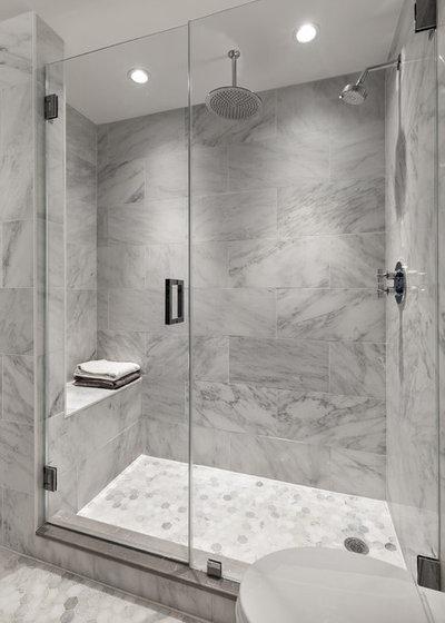 Transitional Bathroom by Ecostruct LLC