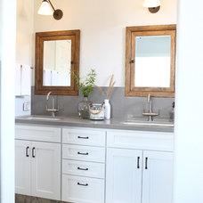 Transitional Bathroom by Jennifer Bishop Design
