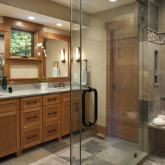 contemporary bathroom by Living Stone Construction, Inc.