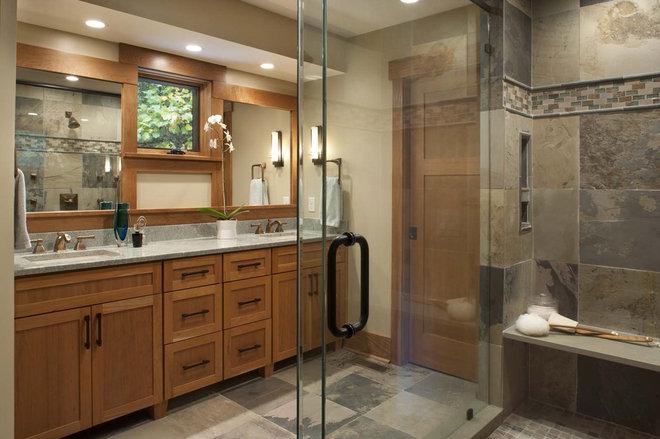 Contemporary Bathroom by Living Stone Construction, Inc.