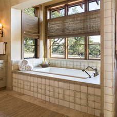 Rustic Bathroom by Cornerstone Architects