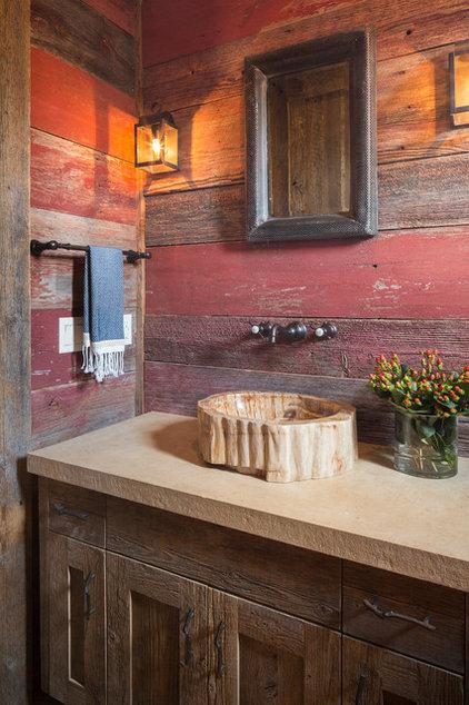 Rustic Bathroom by Cornerstone Architects