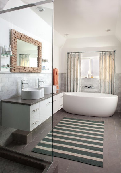 eclectic bathroom by Ashley Campbell Interior Design