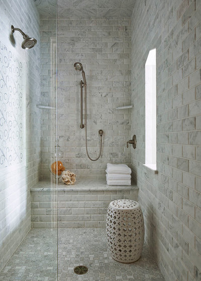American Traditional Bathroom by Martha O'Hara Interiors