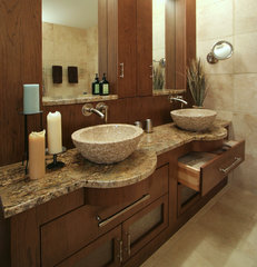 modern bathroom by Angie Keyes CKD