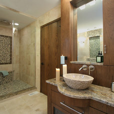 Contemporary Bathroom by Angie Keyes CKD