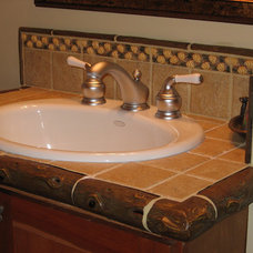 Eclectic Bathroom by North Country Tile
