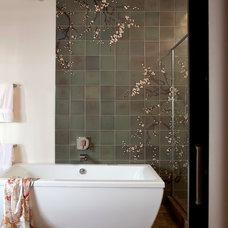 Contemporary Bathroom by laurel quint interior design