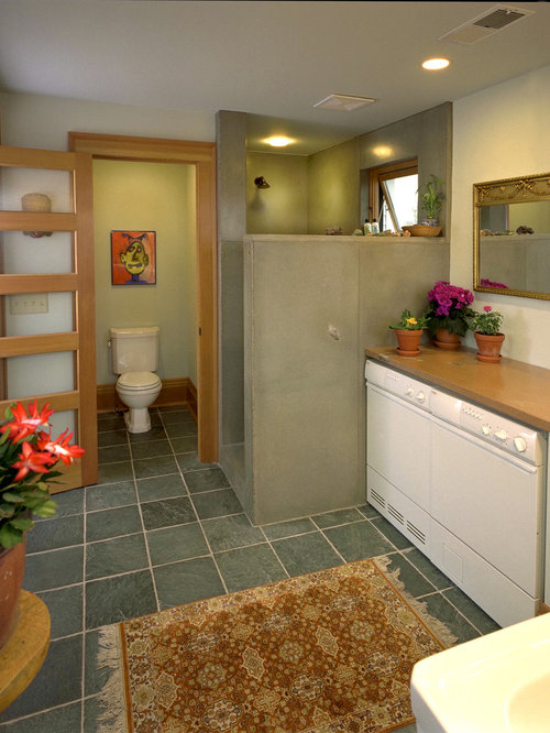 Separate toilet and tub rooms houzz for Toilet room decor
