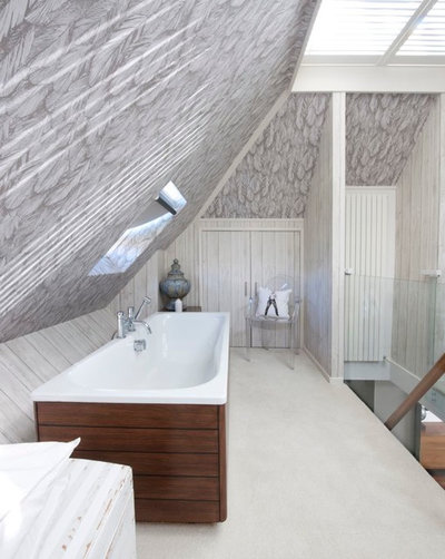 8 belles salles de bains am nag es sous les combles for Salle de bain sous les toits