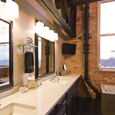 Industrial Bathroom by Besch Design, Ltd.