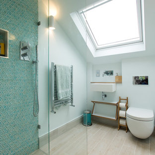 Design ideas for a contemporary bathroom in London.