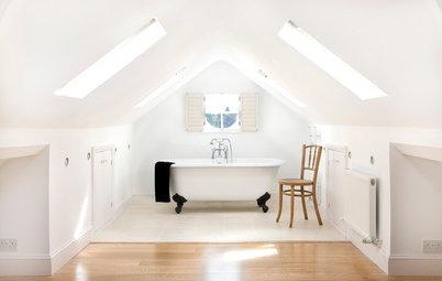 Loftsrum: 10 inspirerende badeværelser der udnytter pladsen på loftet