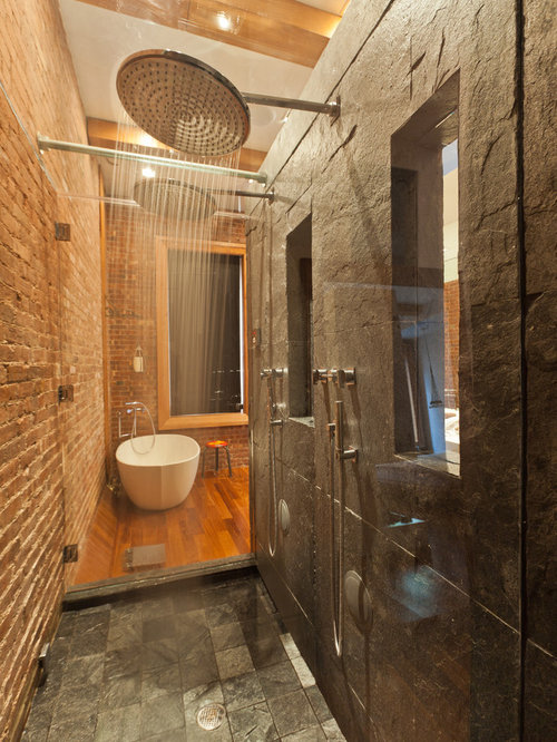 Slate Shower Floor Ideas, Pictures, Remodel and Decor