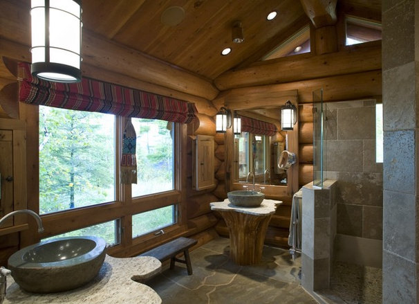 Rustic Bathroom by Bill Michels Architect