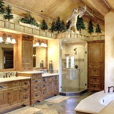 Rustic Bathroom by Interiors on Fox Farm Road