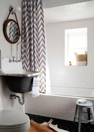 Transitional Bathroom by Breeze Giannasio Interiors