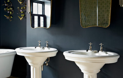 Black, White and Gold Add Up to Bathroom Design Heaven
