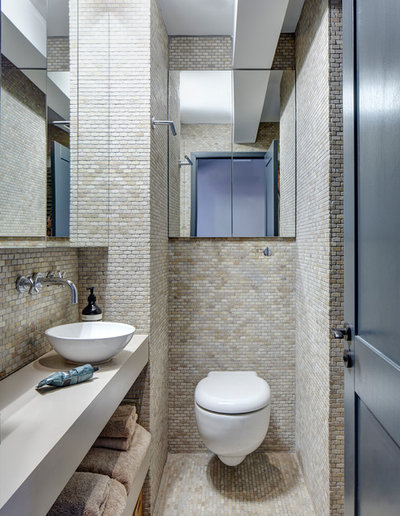 Transitional Bathroom by Sigmar
