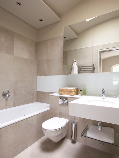 Neutral bathroom houzz for Neutral bathroom ideas