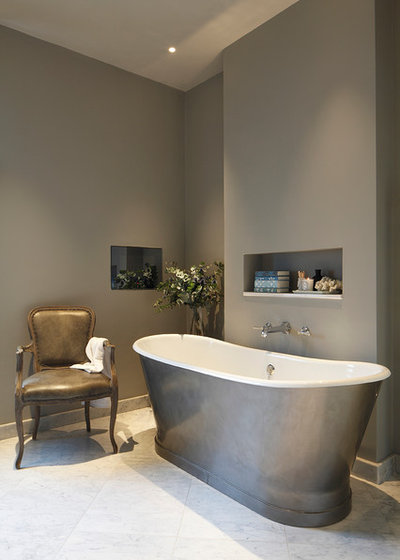 Transitional Bathroom by Laura Sole Interiors