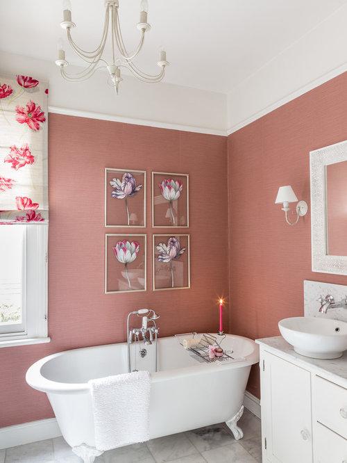 rose colored walls home design photos