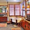 What makes a bathroom tropical?