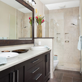 Inspiration for a transitional bathroom remodel in Other
