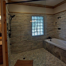 Asian Bathroom by Longacre Construction Company