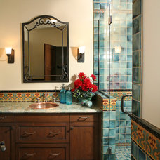 Mediterranean Bathroom by Republic Tile Works, LLC