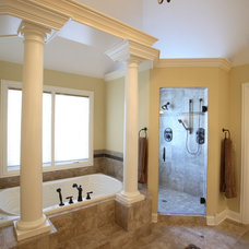 Traditional Bathroom by Lord General Contractors Corp