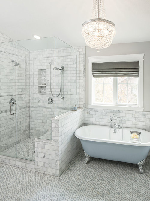 ClawFoot Tub Design Ideas Houzz - Clawfoot tub in small bathroom