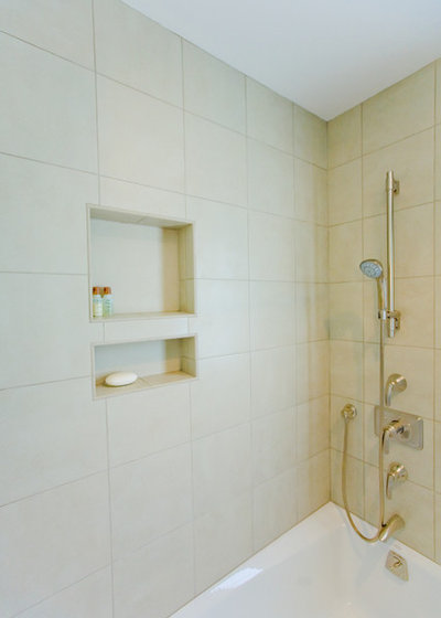 Avoid Falling Bottles With A Shower Niche